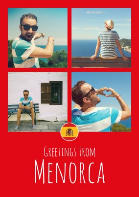 greeting card Greetings from Menorca