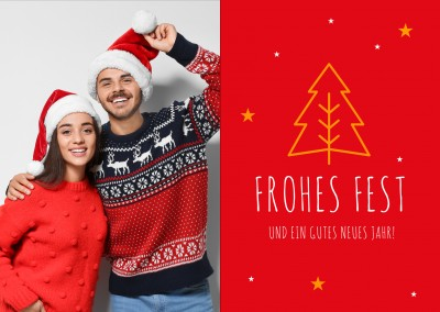 Frohes Fest Meridian Design rot classic