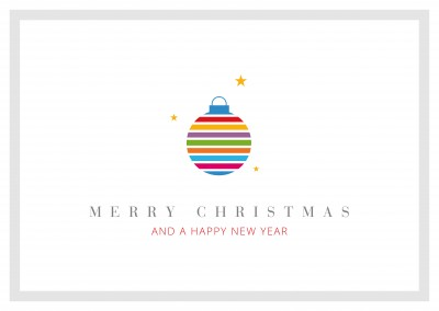 Meridian Design Merry Christmas & a Happy New Year Kugel