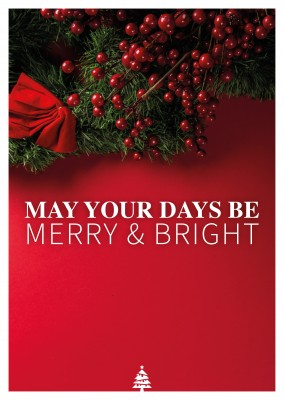 Spruch May your days be merry and bright
