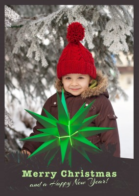 merry Christmas with green star, own picture.