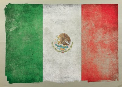 Mexican Flag grungy