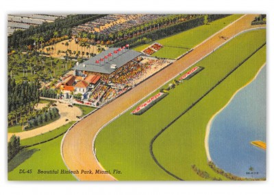 Miami Florida Hialeah Park Race Track Birds Eye View