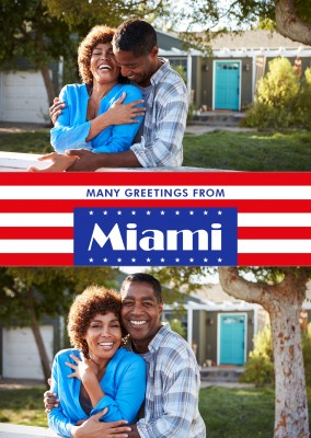 Miami greetings US-flag
