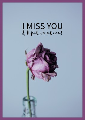 cita de I miss you & me siento tan sola