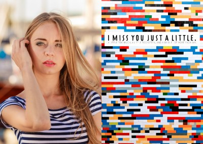 I miss you just a little too much, a little too often and a whole lot more each day postcard
