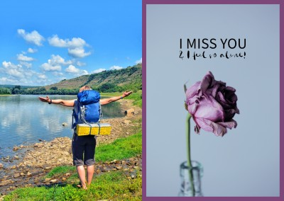 Spruch I miss you & I feel so alone
