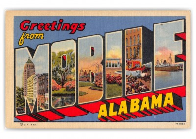 Mobile Alabama Large Letter Greetings