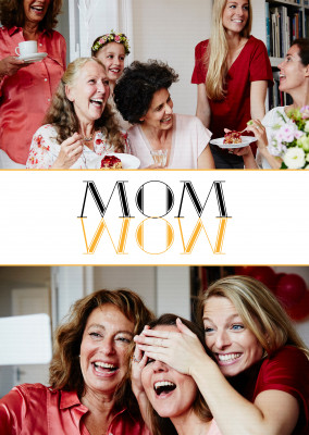 Card saying Mom - Wow