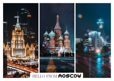 photo collage of Moscow