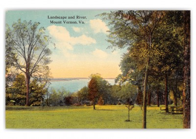 Mount Vernon, Virginia, Lanscape and River