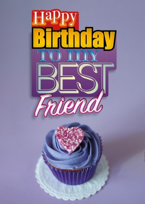 to my best friend postcard greeting card