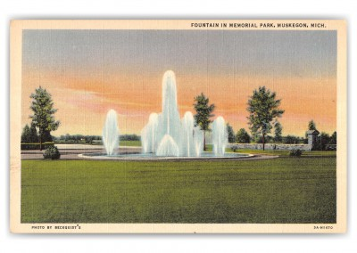 Muskegon, Michigan, Memorial Park Fountain