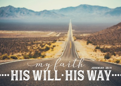 postcard My faith his will his way Jeremiah 29:11