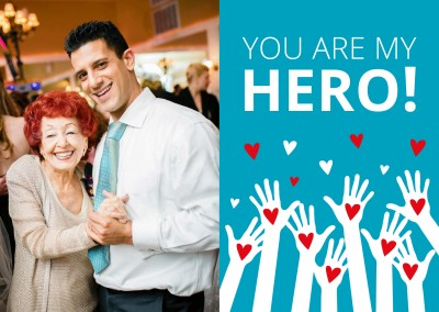 Meridian Design postcard you are my hero