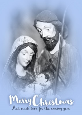 Mary, Joseph and Baby Jesus. Merry Christmas and much love for the coming year.