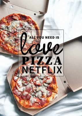 pizza in bed netflix offertes