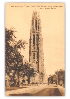 New Haven, Connecticut, The Harkness Tower from High Street, Yale University