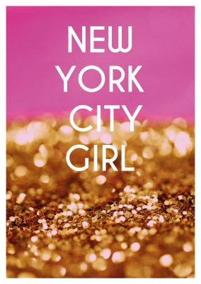 NEW YORK CITY GIRL de carte Postale Carte de Devis