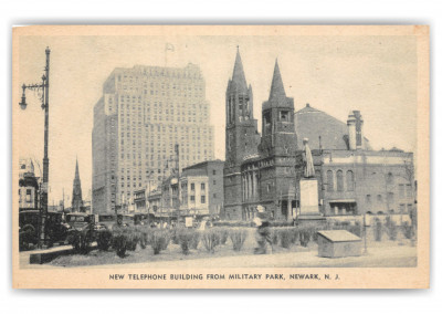 Newark, New Jersey, New Telephone Building from Military park