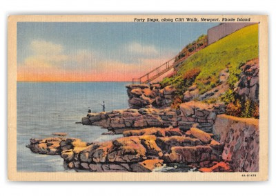 Newport, Rhode Island, Forty Steps along Cliff Walk