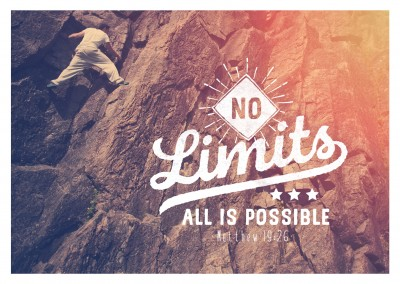 postcard SegensArt No limits all is possible