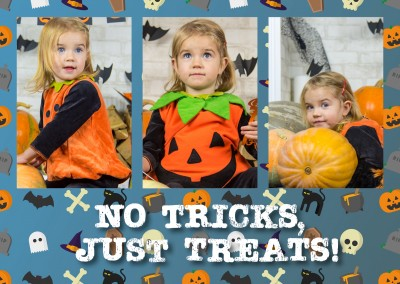 No tricks, just treat! Spruch