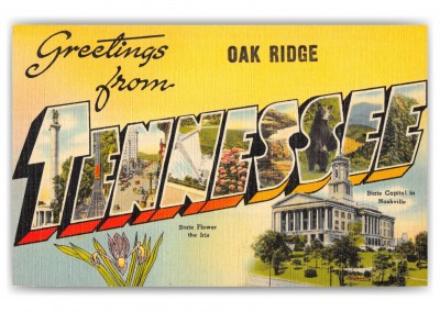 Oak Ridge, tennessee, Greetings from