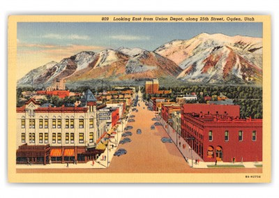 Ogden, Utah, East from Union Depot