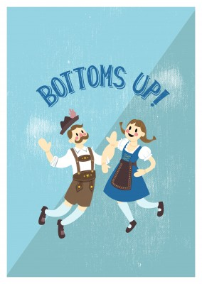 Bottoms up! Postal para Octoberfest