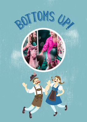 Bottoms up! Oktoberfest card