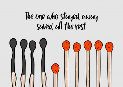 The one who stayed away saved all the rest