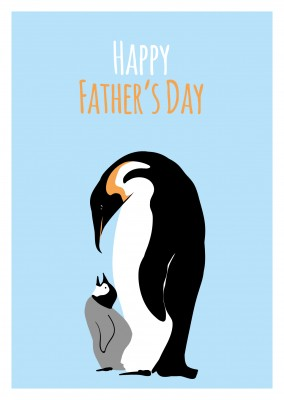 Vatertags Pinguin illustration