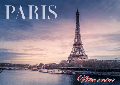 Postcard Paris Eifel Tower