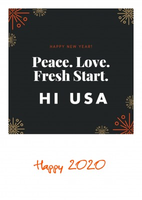 HI USA – peace love fresh start