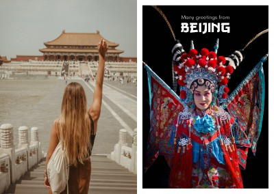 de vrouw in de traditionele chinese opera jurk