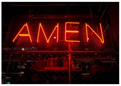 photo neon sign Amen
