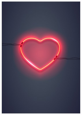 photo heart neon sign