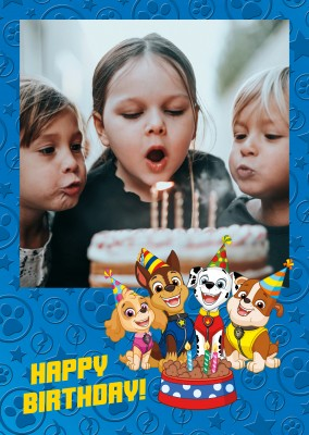 PAW Patrol  postcard Best Valentine's Day Friends