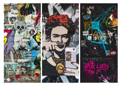 collage de photos de street art
