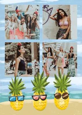 postcard pineapples
