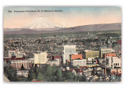 Portland, Oregon, panoramic view with Mr. St. Helens