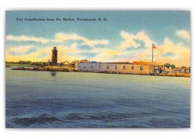 Portsmouth, New Hampshire, Fort Constitution from the Harbor