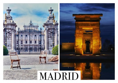 collage de fotos de Madrid