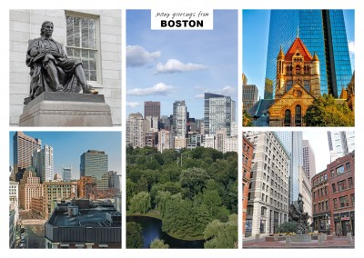 five photos of Boston