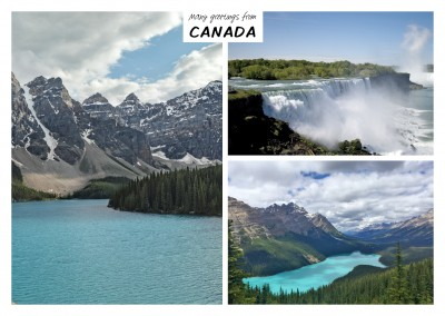 Three photos of Canada nature