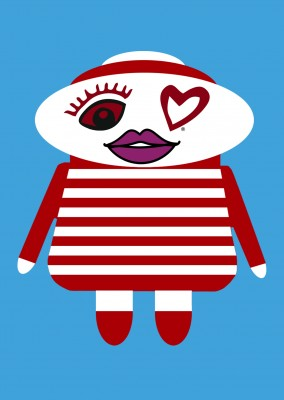 illustration Eye-love doll