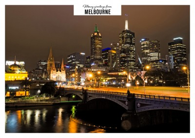 postcard from melbourne australia