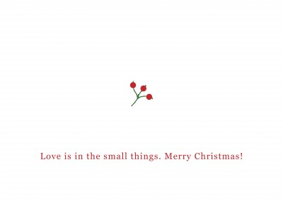Simple Christmas card with a cute text