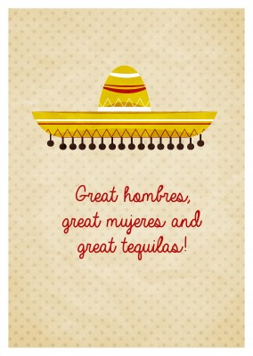 Greeting card mexican style